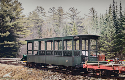 An old rail car at the WWF railway museum at Alna, ME