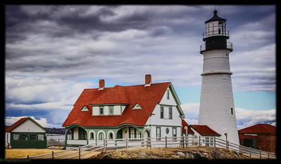 The two light light house, cape elizabeth Maine