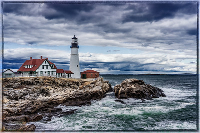 The two light light house, cape elizabeth Maine