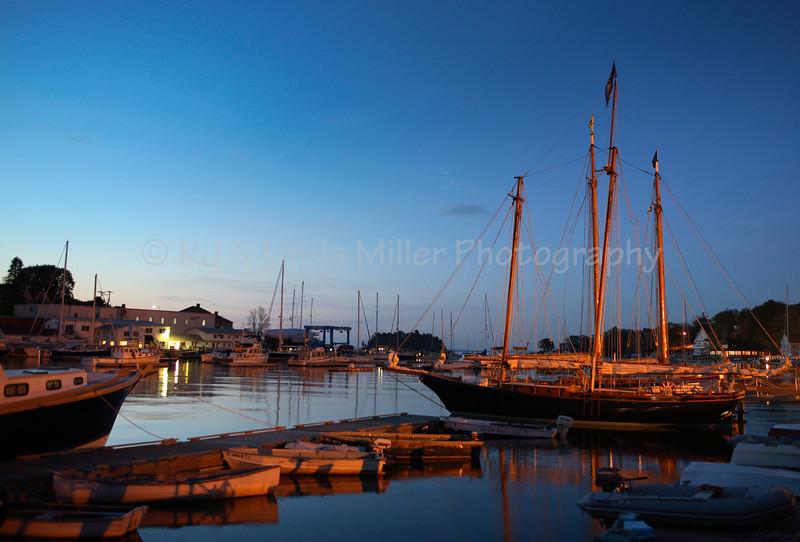 Camden Maine, Boats in Harbor