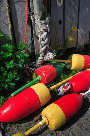 Monhegan Island, Maine, Lobster Trap Floats