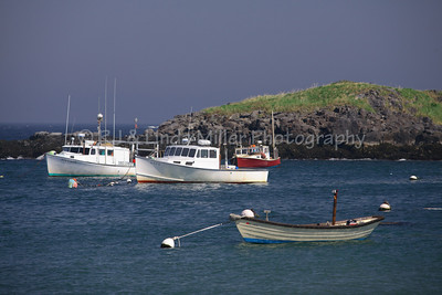Monhegan Island, Maine, Fishing Skiffs, Lobster Boats