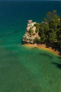 Miners Castle, Lake Superior, Pictured Rocks National Lakeshore, Alger County, Upper Peninsula, Michigan