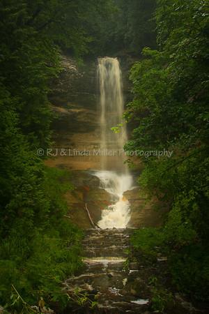 Munising Falls, Alger County, Upper Peninsula, Michigan