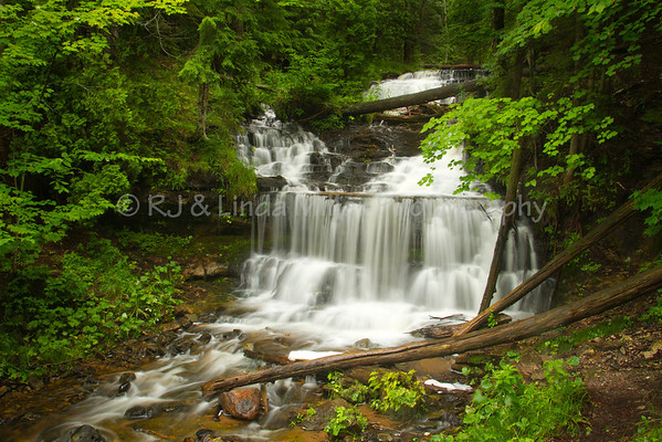 Wagner Falls, Alger County, Upper Peninsula, Michigan