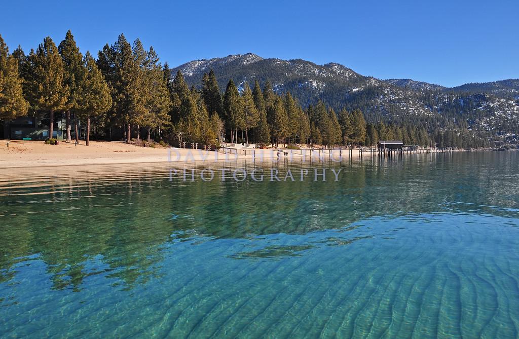 Winter view of Lake Tahoe
