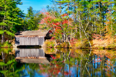 Covered Bridge in Sturbridge Village, Massachusetts