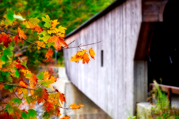 Autumn Colors at a Vermont Covered Bridge