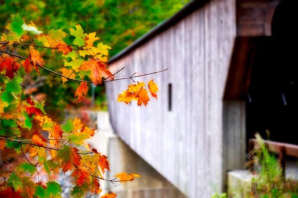 Autumn Colors at a Vermont Covered Bridge