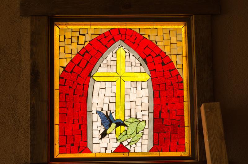 Stained Glass; Santuario de Chimayo, NM