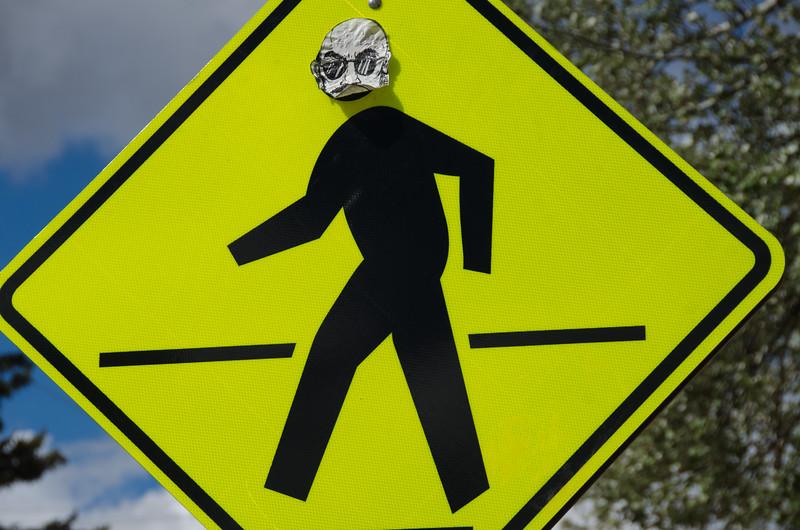 Alien Crossing; Street Sign in Taos, NM