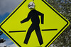 Alien Crossing; Street Sign in Taos, NM