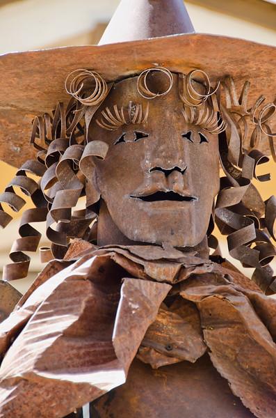 Cowgirl. Metal Sculpture in Madrid, NM