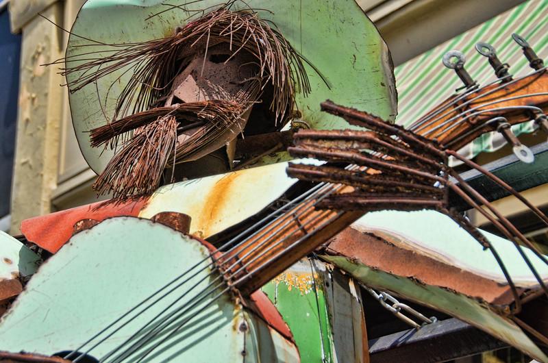 Guitar Man. Metal Sculpture in Madrid, NM