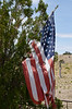 Tattered US Flag in Cemetery, Cerillos, NM