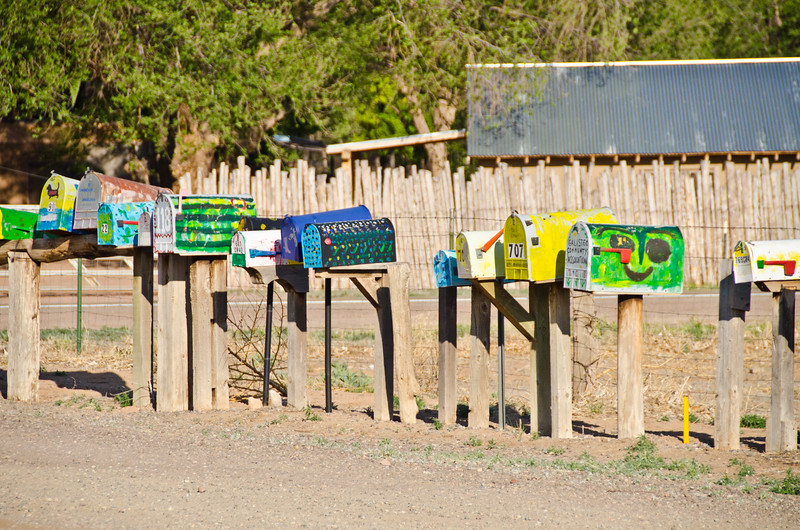 Mailboxes in Galisteo, NM