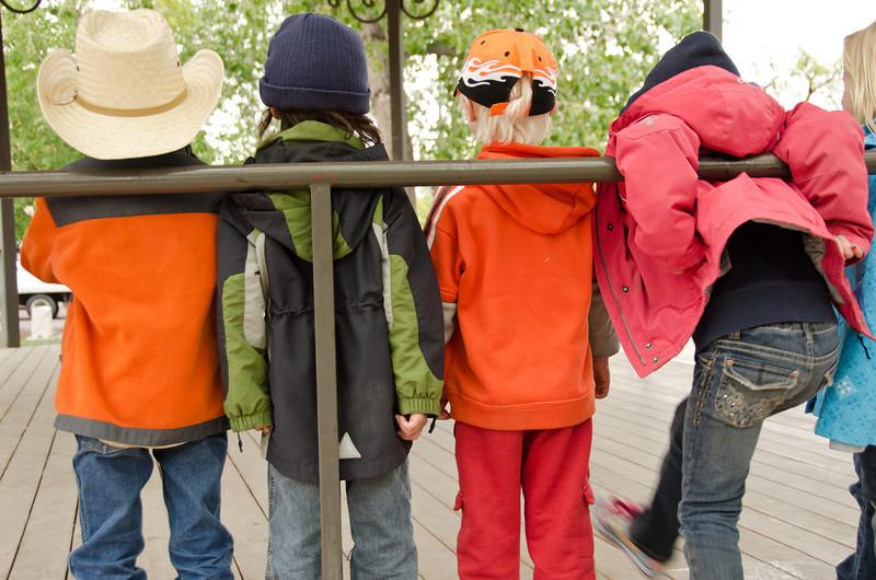 Children Playing in Santa Fe Plaza