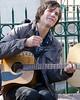Street Musician in Santa Fe Plaza