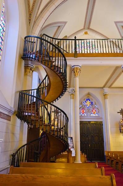 Miracle Staircase, Loretto Chapel, Santa Fe, New Mexico