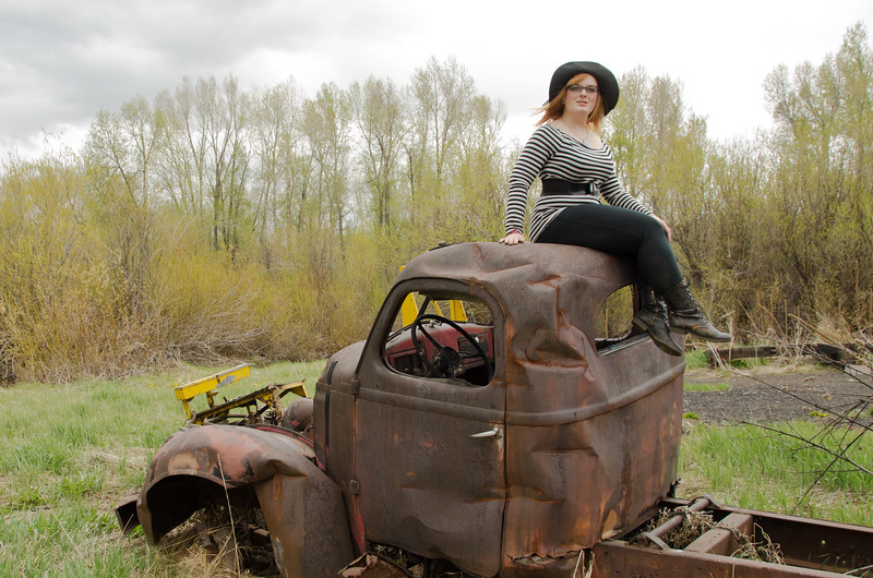 """""""Babe"""" on Old rusty Truck"""