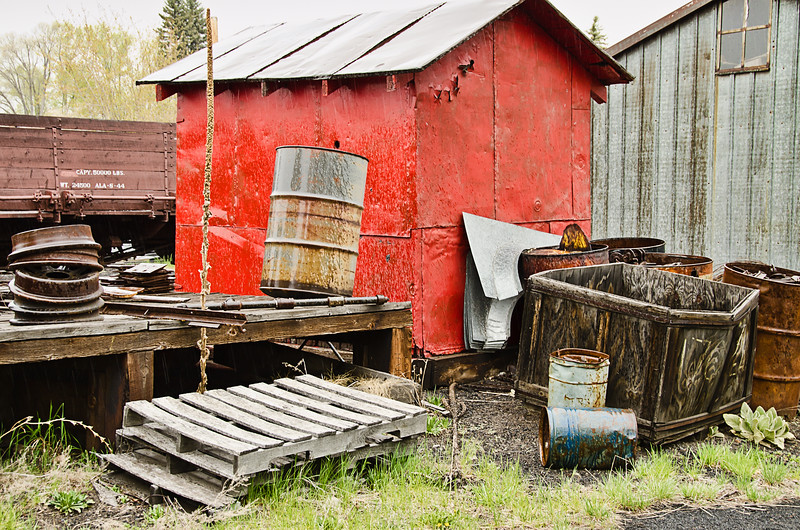 Tool Sheds in the Train Yard