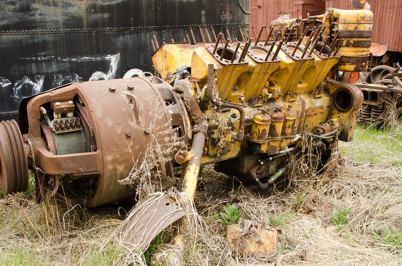 Machinery in Junkyard