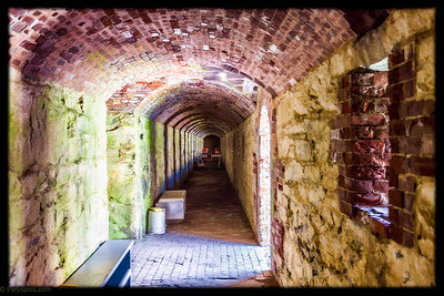One of the many listening tunnels in fort adams