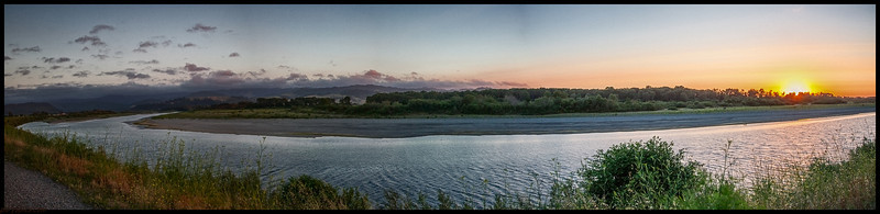 Sunser By the river, Fortuna Ca