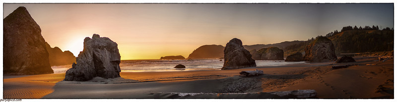 Sunser at Bandon beach, Or, Oregon