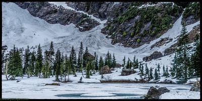 Hiking heather lake