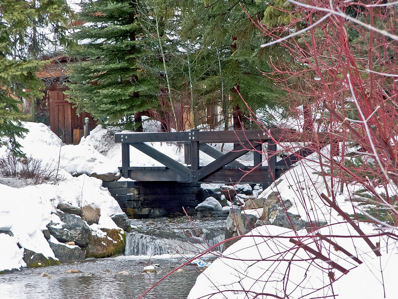 Bridge over Stream at Sundance Resort, Utah