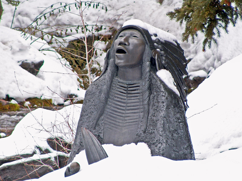 Native American Statue at Sundance Resort, Utah