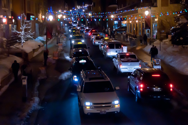 Sundance traffic, downtown Park City, Utah