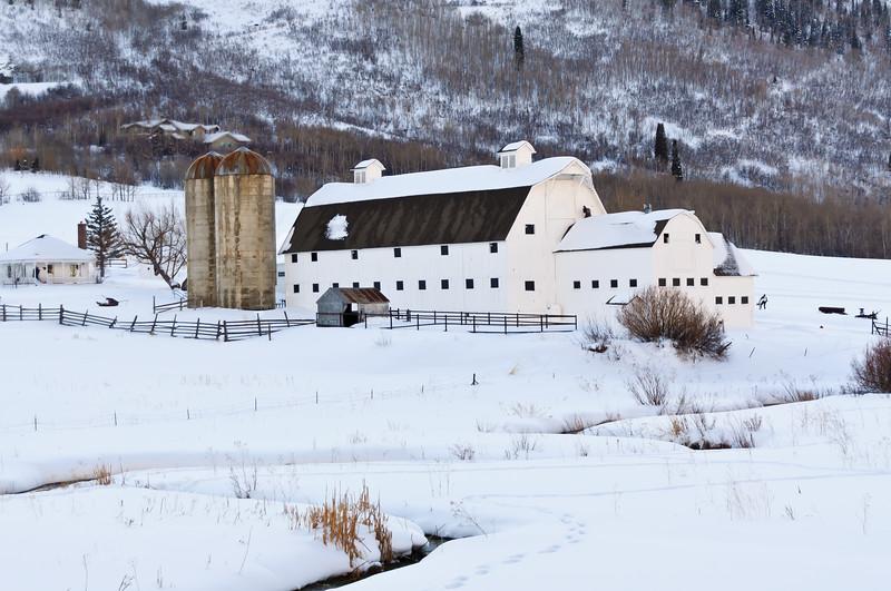 The White Barn near Park City, Utah.