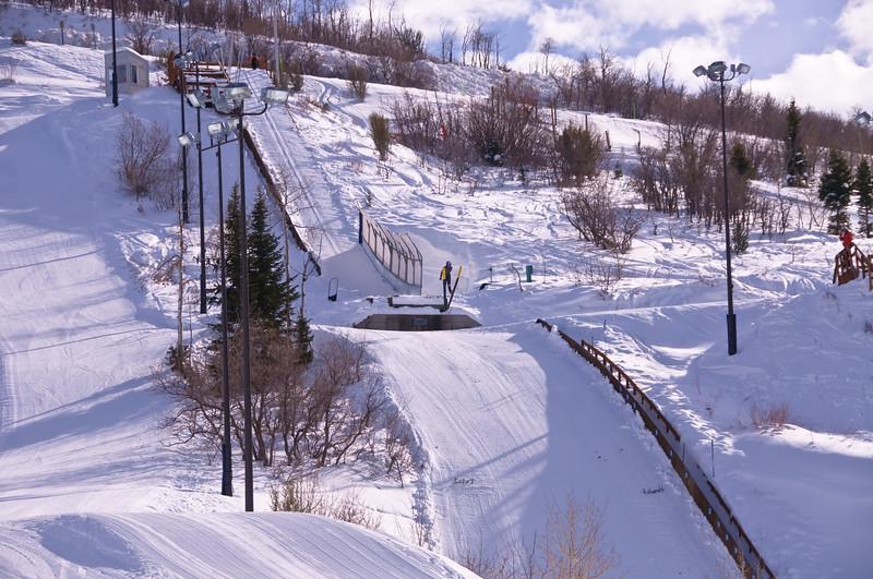 Ski Jump Training at Olympic Park, Park City, Utah