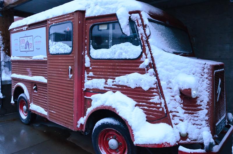 Old Delivery Van, belongs to Easy Street eatery, Park City, Utah