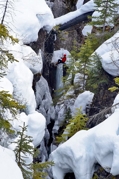 Ice Climber, Kootney National Park, Canada