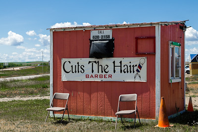 Barber Shop. Crow Agency, MT