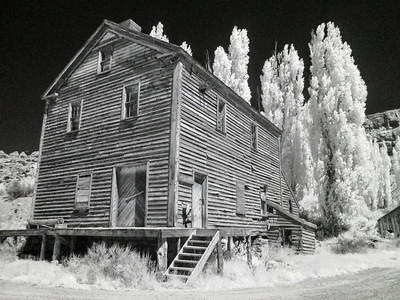 Abandoned Mill Utah. IR Photography