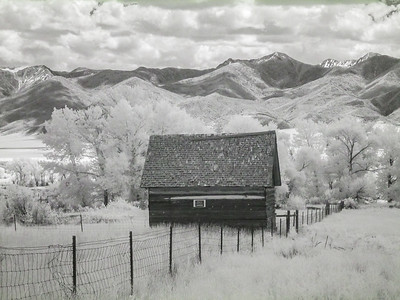 Montana Barn. IR Photography