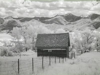 Montana Barn. IR Photography