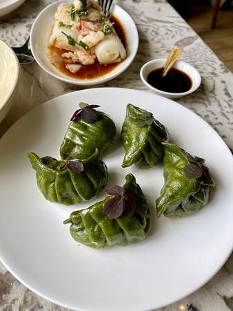 Potstickers: chard greens, spinach, Berkshire pork