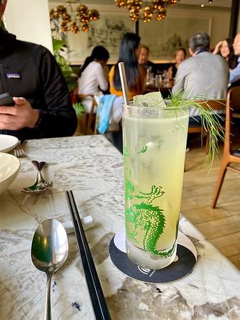 Tranquility cocktail: Ahus Akvavit, citrus, ginger, fennel honey