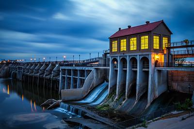 Lake Overholser Dam in Oklahoma City