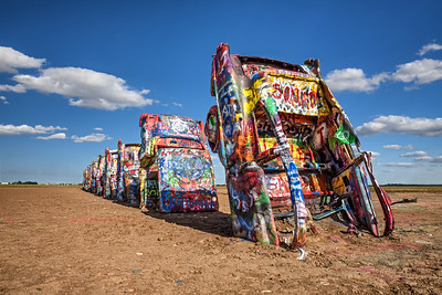 Cadillac Ranch on Route 66 in Texas