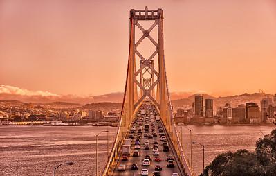 Bay Bridge connecting San Francisco and Oakland