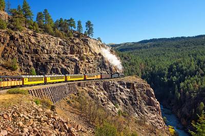 Historic steam engine train in Colorado, USA