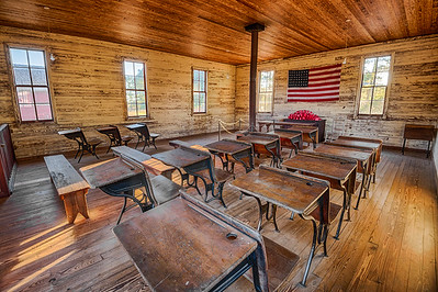 Interior of the historic one-room School in Dothan, Alabama