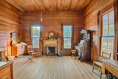 Interior of an old farmhouse, Alabama