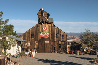 Old barn in Nelson ghost town in the El Dorado Canyon near Las Vegas, Nevada